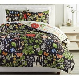 Pottery Barn Poppy Twin Duvet Cover & Shams NEW
